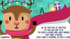 12 Days of Christmas Song for Kids with Lyrics | The Kiboomers | Christmas Carol | Preschool